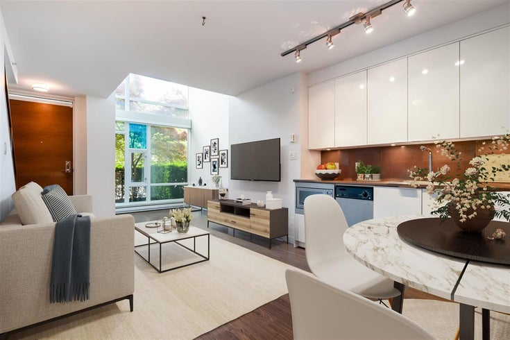 106 161 W GEORGIA STREET - Downtown VW Townhouse for sale, 1 Bedroom (R2599290)