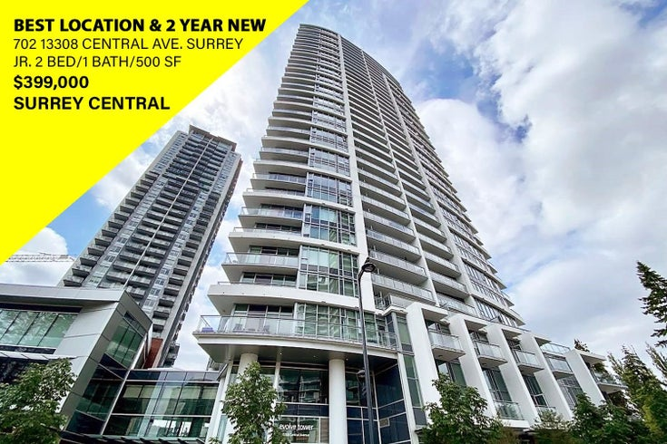 702 13308 CENTRAL AVENUE - Whalley Apartment/Condo for sale, 2 Bedrooms (R2599539)