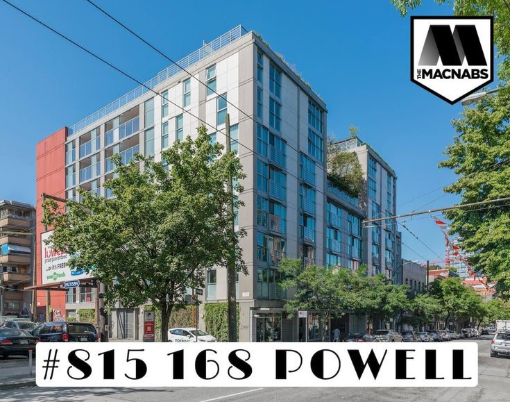 815 168 POWELL STREET - Downtown VE Apartment/Condo for sale, 1 Bedroom (R2599942)