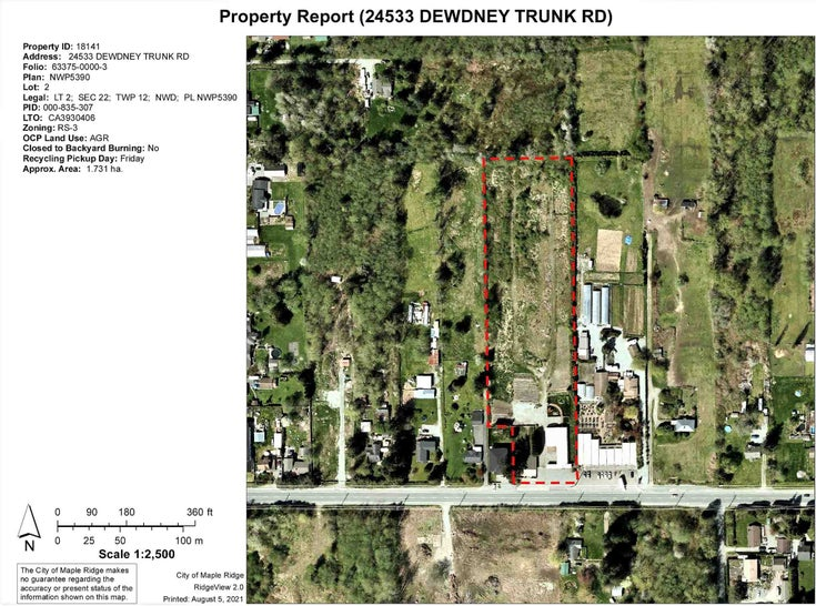24533 DEWDNEY TRUNK ROAD - Websters Corners House with Acreage for sale, 2 Bedrooms (R2607299)