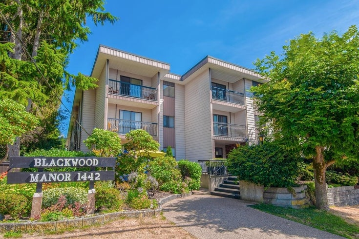 102 1442 BLACKWOOD STREET - White Rock Apartment/Condo for sale, 1 Bedroom (R2609255)