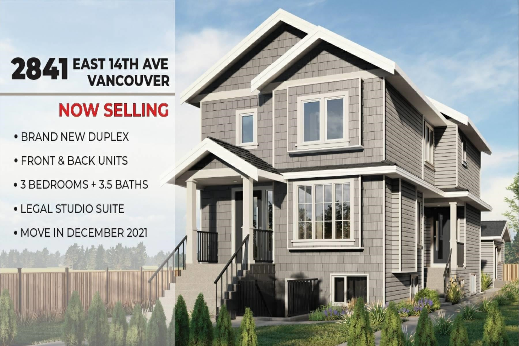 1 2841 E 14TH AVENUE - Renfrew Heights 1/2 Duplex for sale, 3 Bedrooms (R2609873) - #1