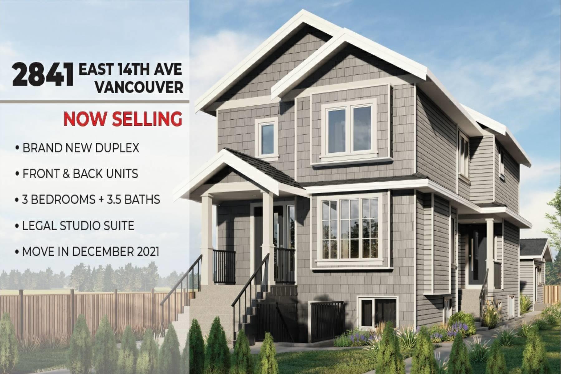 2 2841 E 14 AVENUE - Renfrew Heights 1/2 Duplex for sale, 3 Bedrooms (R2610065) - #1