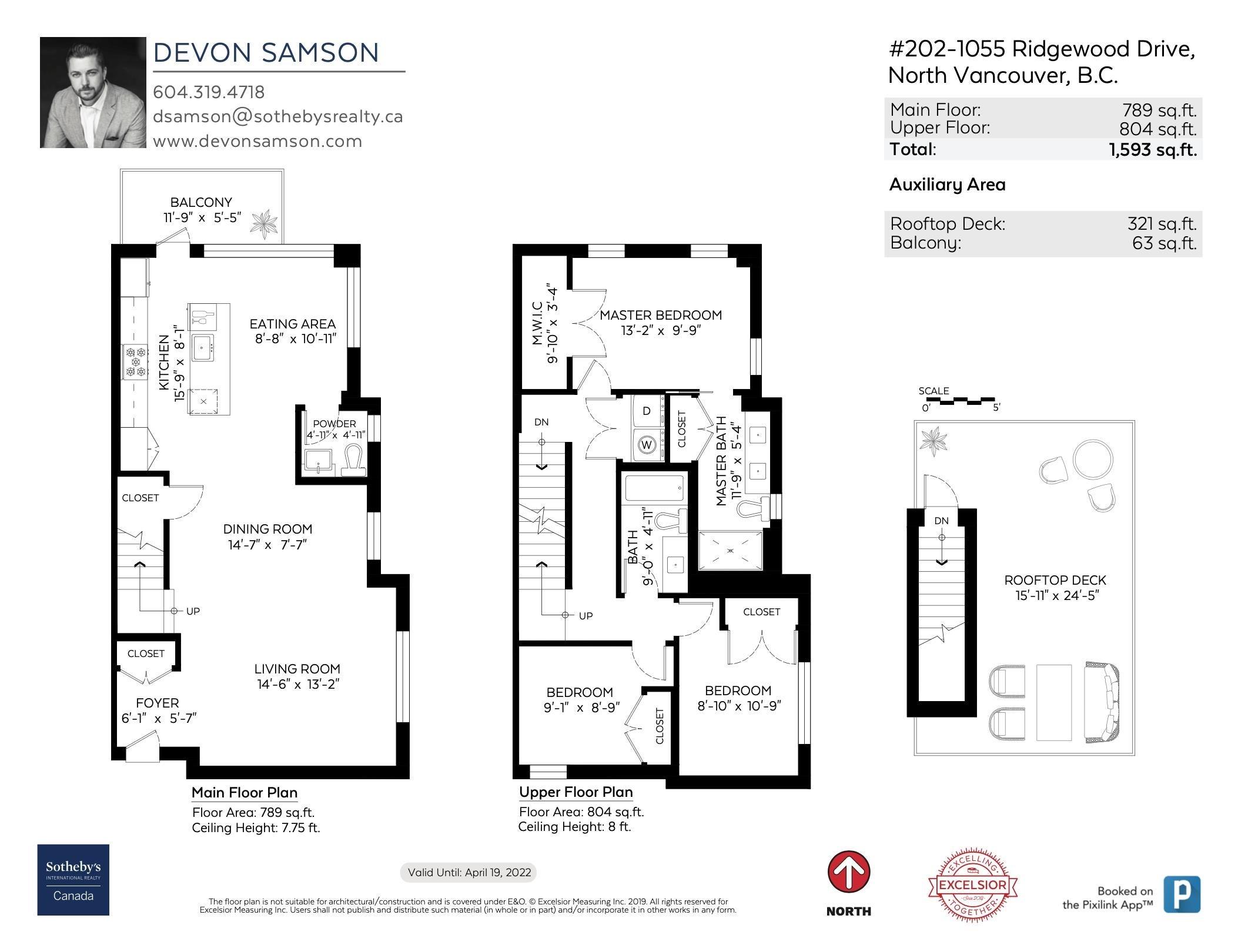 202 1055 RIDGEWOOD DRIVE - Edgemont Townhouse for sale, 3 Bedrooms (R2611487) - #27