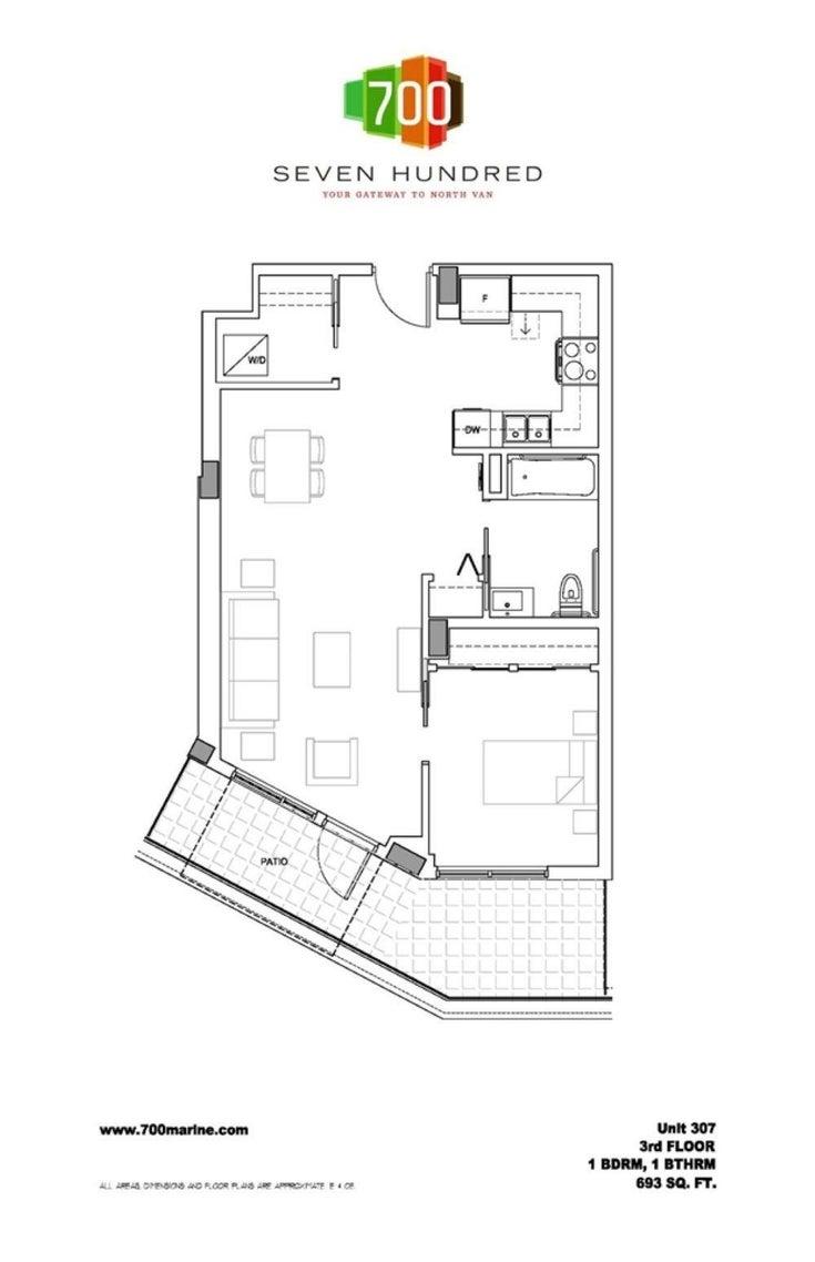 307 317 BEWICKE AVENUE - Mosquito Creek Apartment/Condo for sale, 1 Bedroom (R2616514)
