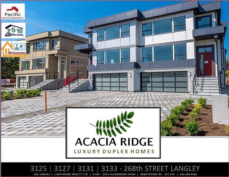 3127 268 STREET - Aldergrove Langley 1/2 Duplex for sale, 3 Bedrooms (R2616823)
