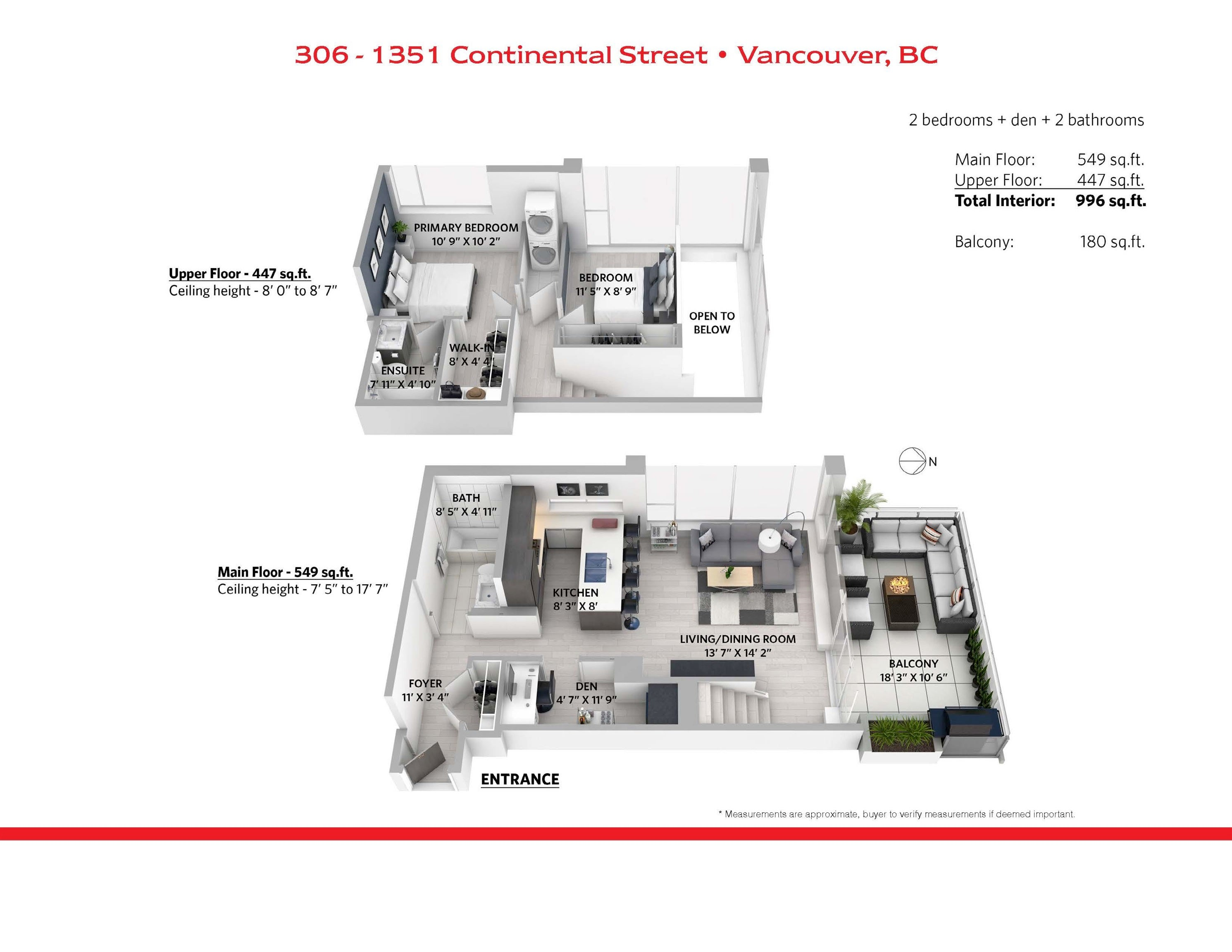 306 1351 CONTINENTAL STREET - Downtown VW Apartment/Condo for sale, 2 Bedrooms (R2617899) - #23