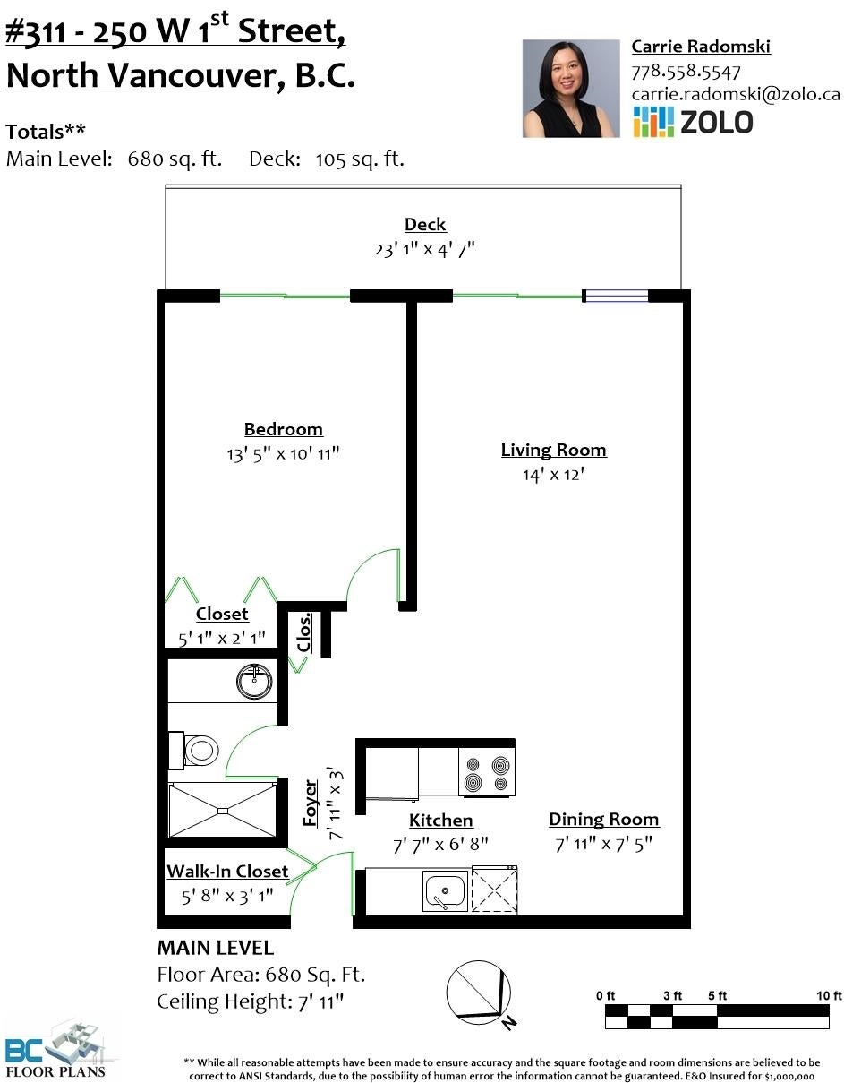 311 250 W 1ST STREET - Lower Lonsdale Apartment/Condo for sale, 1 Bedroom (R2619142) - #24