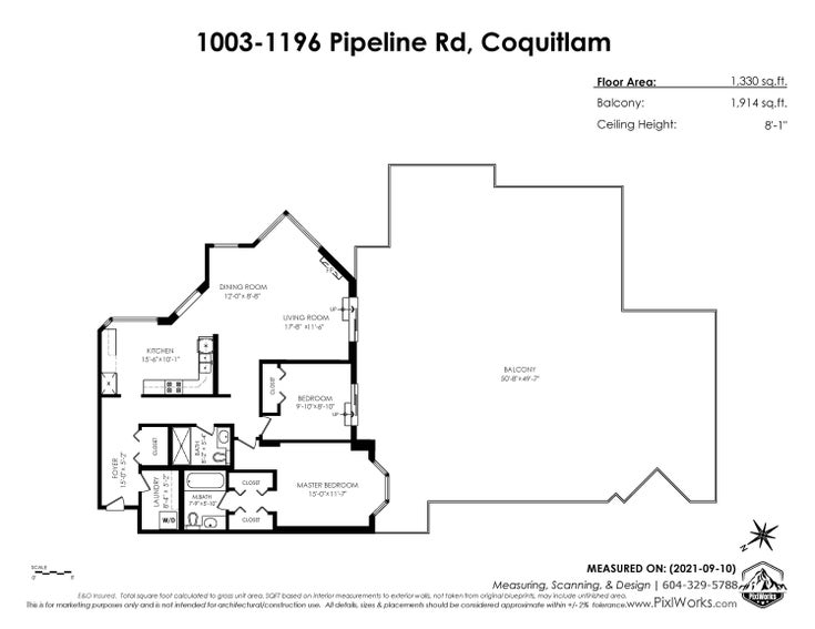 1003 1196 PIPELINE ROAD - North Coquitlam Apartment/Condo for sale, 2 Bedrooms (R2619914)