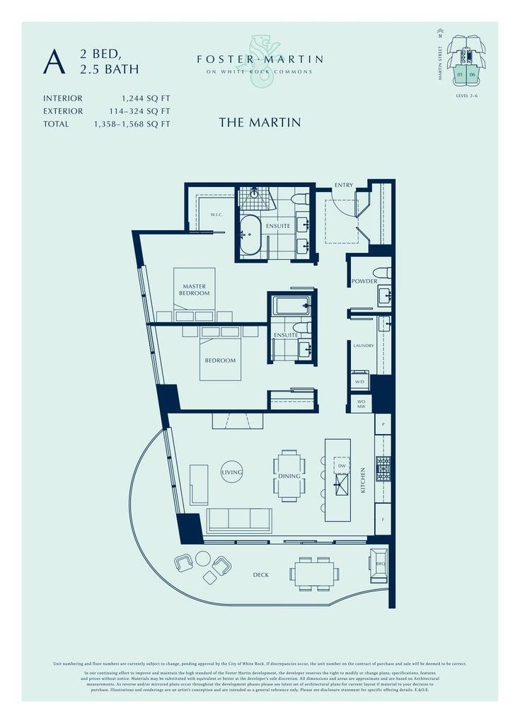 401 1500 MARTIN STREET - White Rock Apartment/Condo for sale, 2 Bedrooms (R2620255)