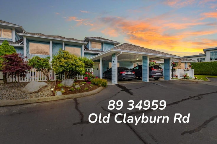 89 34959 OLD CLAYBURN ROAD - Abbotsford East Townhouse for sale, 2 Bedrooms (R2623831)