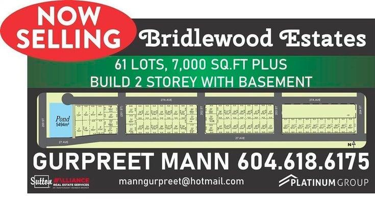 LT.27 200 STREET - Brookswood Langley for sale(R2624047)