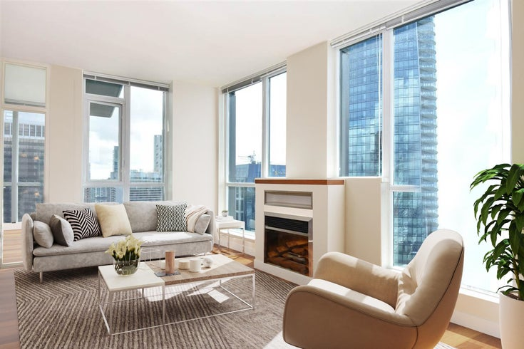 3704 1189 MELVILLE STREET - Coal Harbour Apartment/Condo for sale, 3 Bedrooms (R2624589)