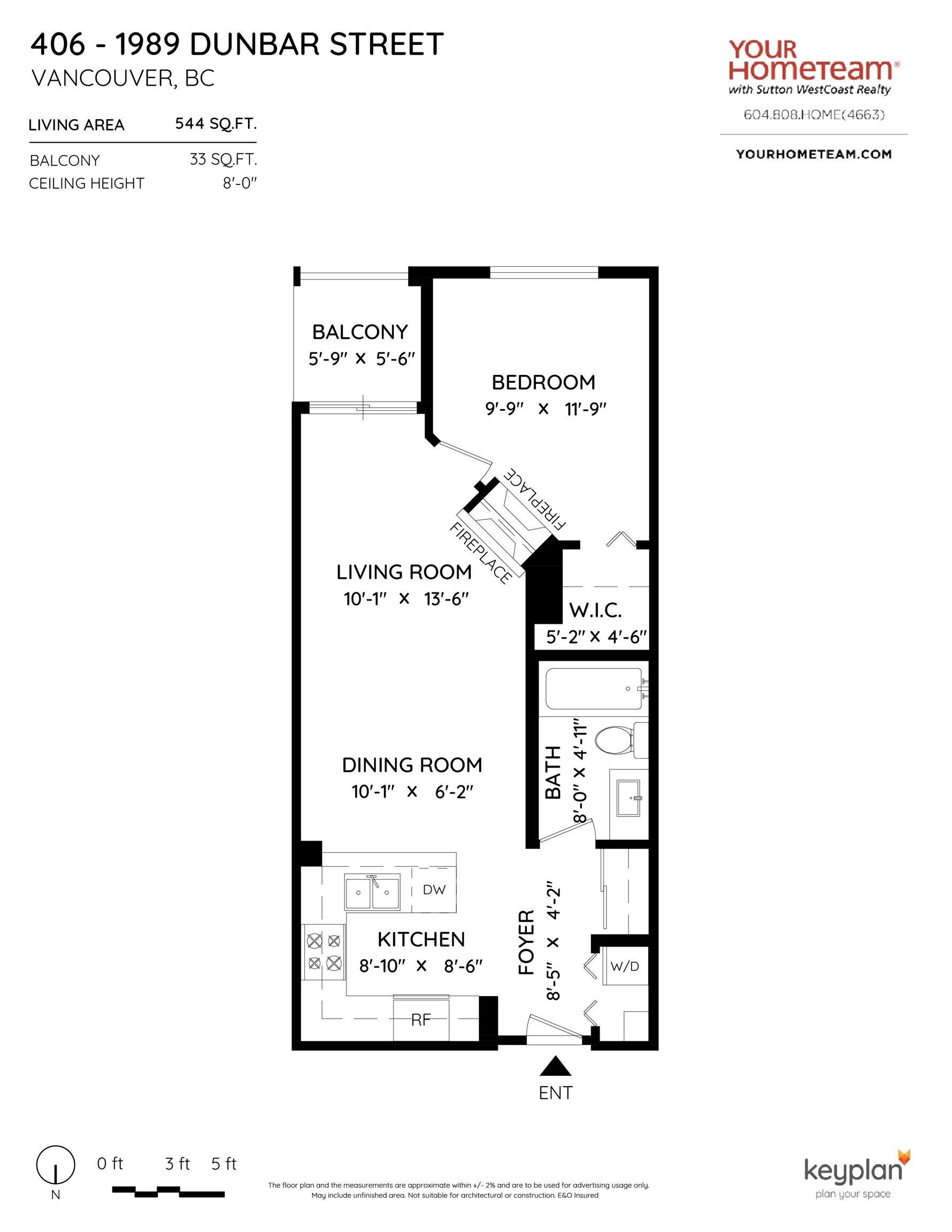 406 1989 DUNBAR STREET - Kitsilano Apartment/Condo for sale, 1 Bedroom (R2624949) - #20