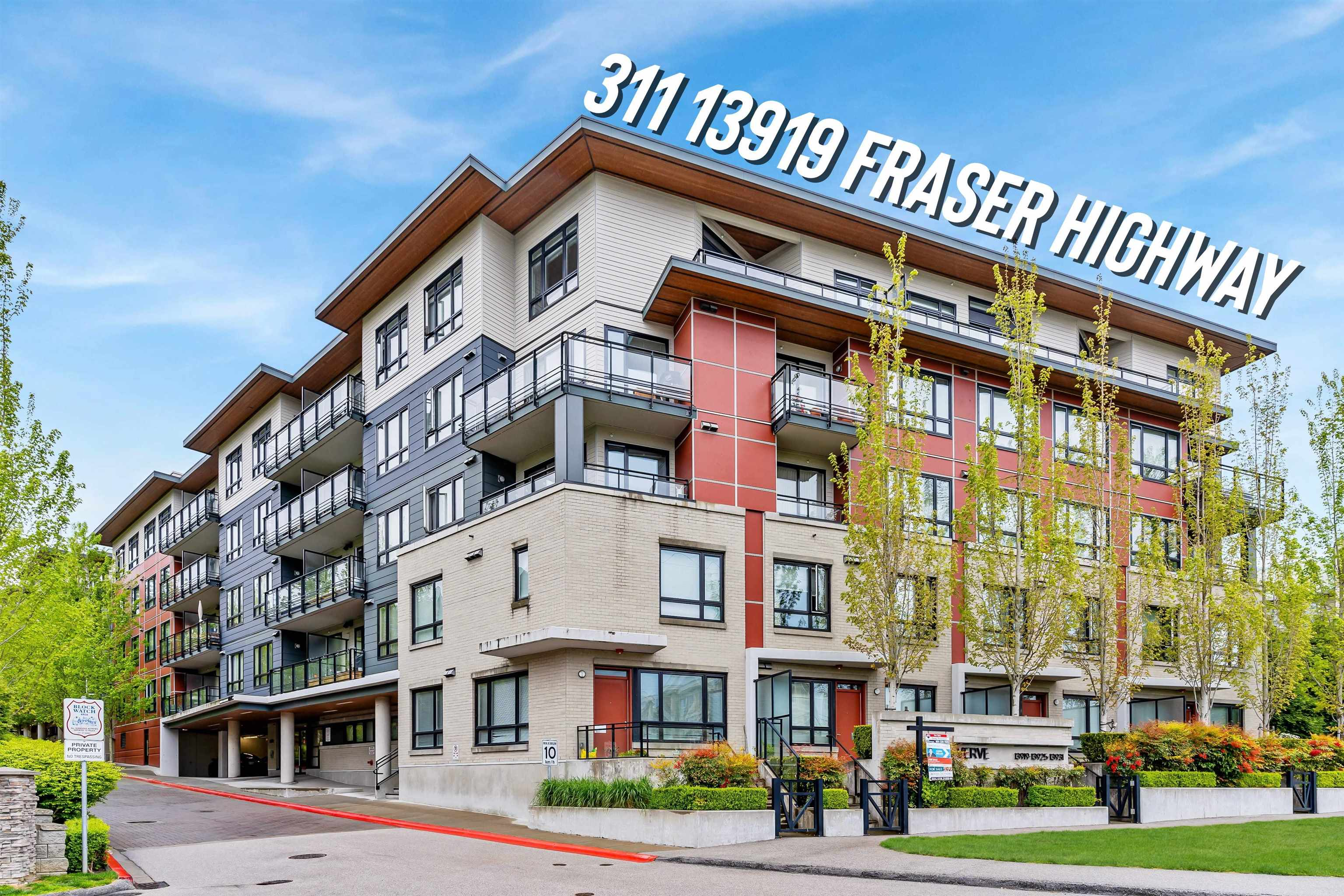 311 13919 FRASER HIGHWAY - Whalley Apartment/Condo for sale, 2 Bedrooms (R2625270)