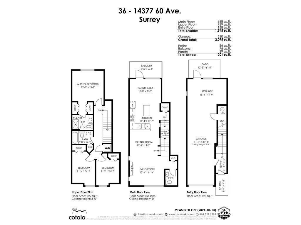 36 14377 60 AVENUE - Sullivan Station Townhouse for sale, 3 Bedrooms (R2625438) - #40