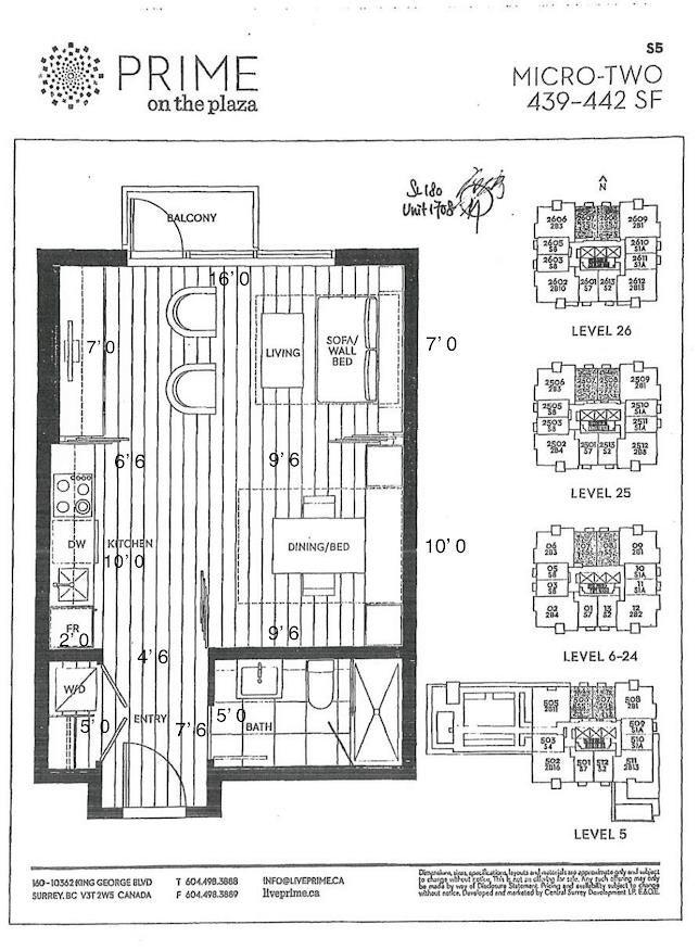 1708 13438 CENTRAL AVENUE - Whalley Apartment/Condo for sale(R2625566) - #4