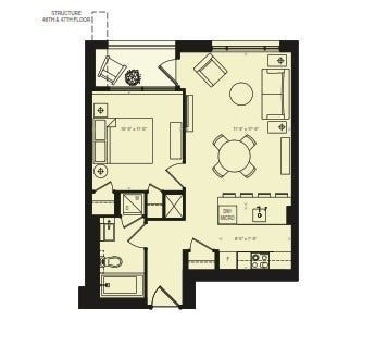 2010 - 88 Scott St - Church-Yonge Corridor Condo Apt for sale, 1 Bedroom (C5384281)
