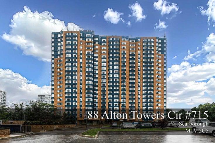 #715 - 88 Alton Towers Circ - Milliken Condo Apt for sale, 2 Bedrooms (E5280057)