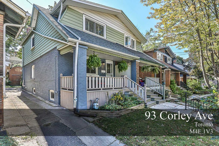 93 Corley Ave - East End-Danforth Semi-Detached for sale, 3 Bedrooms (E5382822)