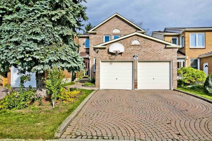 72 Holmbush Cres - Steeles Detached for sale, 4 Bedrooms (E5405951)
