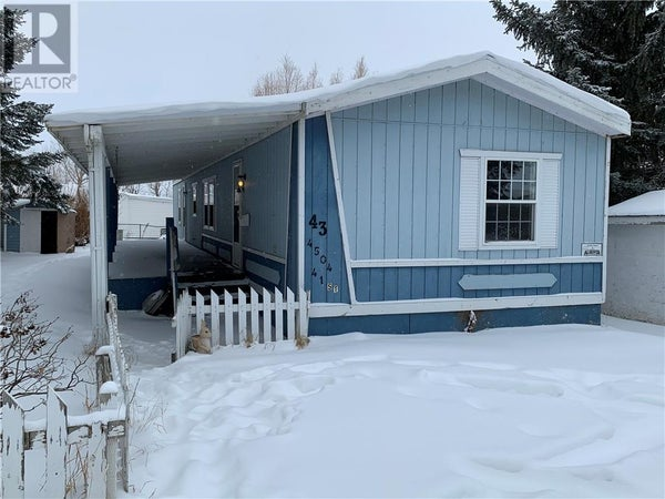 43 4504 41 Street - Camrose Mobile Home for sale, 3 Bedrooms (ca0186485)