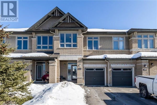 143 POPPLEWELL CRESCENT - Ottawa Row / Townhouse for sale, 3 Bedrooms (1183619)