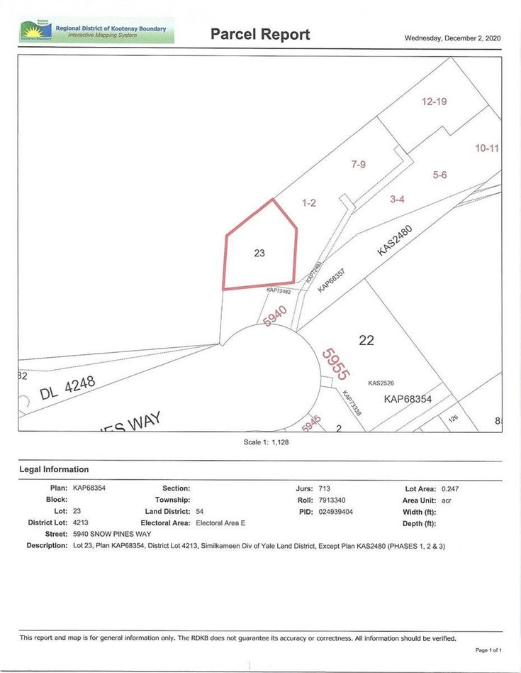 #23 5940 Snow Pines Way, - Big White No Building for sale(10241079)